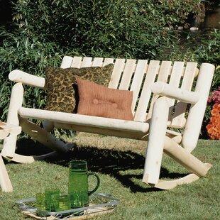 Outdoor / Indoor Cedar Rocking Chair Loveseat