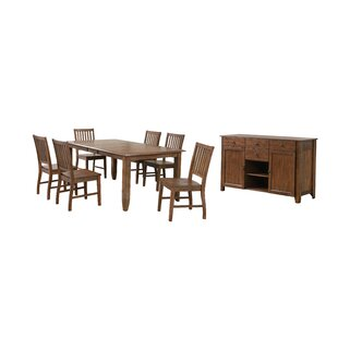 Huerfano Valley 8 Piece Extendable Dining Set Loon Peak