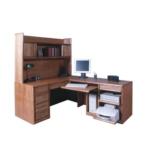 Lach Return L-Shape Executive Desk with Hutch