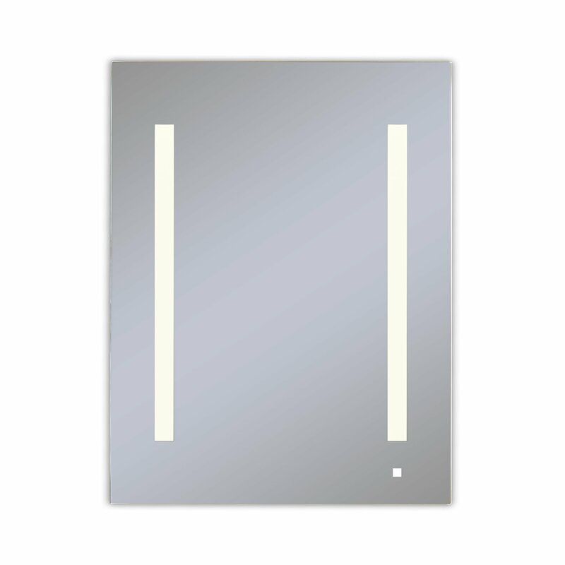 Robern Aio Surface Mount Frameless Medicine Cabinet With 3 Adjustable Shelves And Led Lighting Perigold