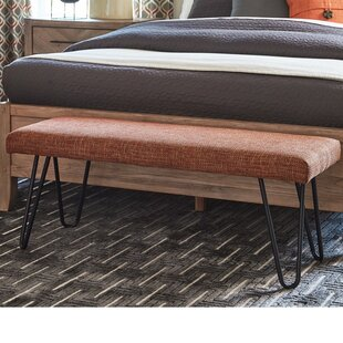 Dube Rustically Straightforward Upholstered Bench by George Oliver
