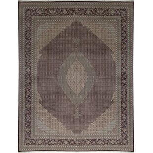 One-of-a-Kind Shah Hand-Knotted Runner 1'5 x 11'9 Wool Brown Area Rug by Bokara Rug Co., Inc.