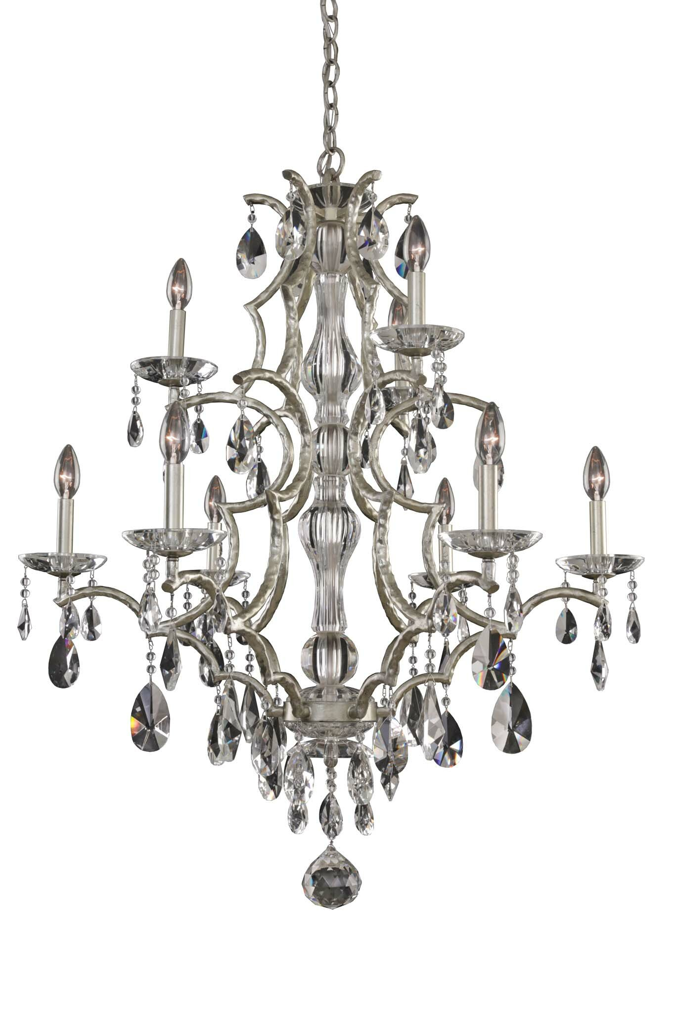 Rosdorf Park Bellair 9 Light Candle Style Classic Chandelier With Crystal Accents Wayfair