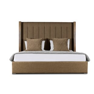 Brayden Studio Hank Vertical Channel Tufting Upholstered Platform Bed