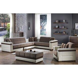 Vicaro 3 Piece Sleeper Living Room Set by Orren Ellis