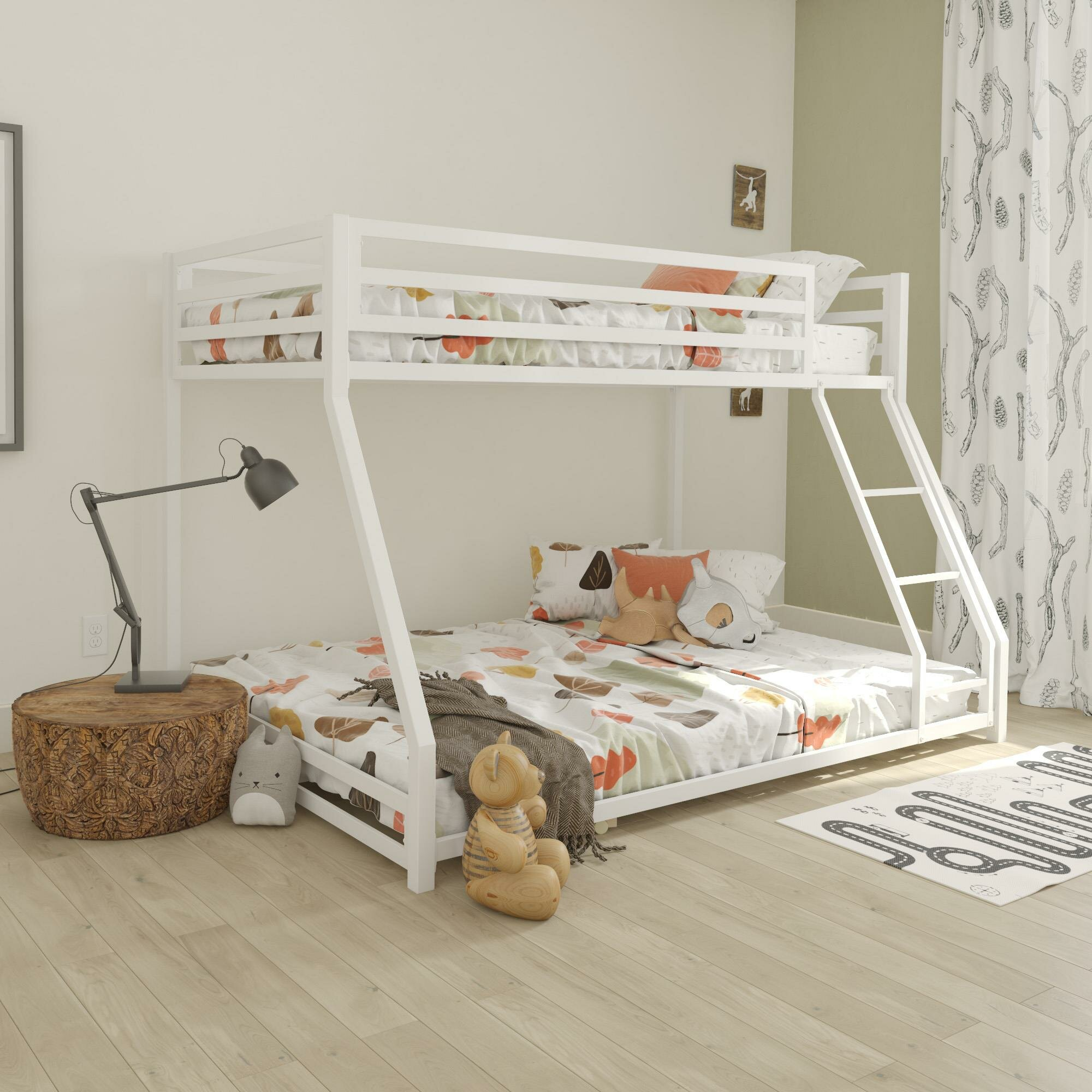 Picture of: Harriet Bee Simoneau Twin Over Full Bunk Bed Reviews