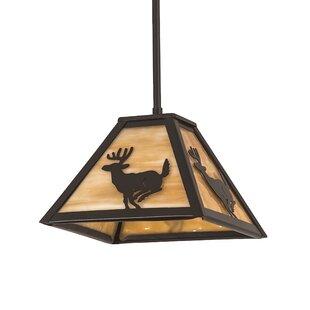 Meyda Tiffany Lone Deer 1-Light Dome Pendant
