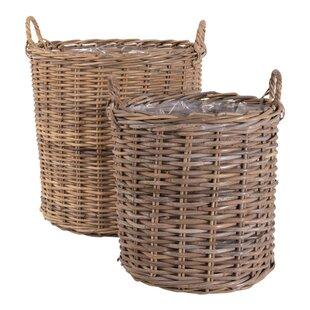 Inmara Wicker 2 Piece Basket Set By Bay Isle Home