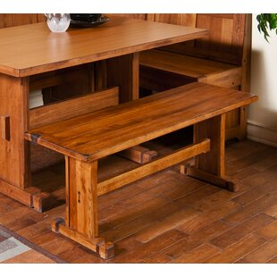 Henry Rustic Oak Bench by Breakwater Bay