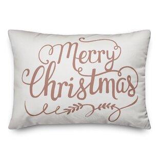 Vena Merry Christmas Lumbar Pillow