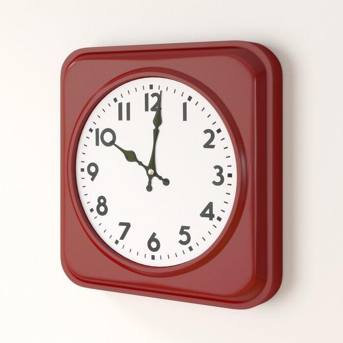 Lincolnton Square Iron Wall Clock