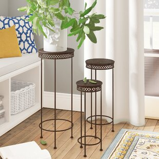 Top Reviews Charity Round Iron 3 Piece Nesting Plant Stand Set By Fleur De Lis Living