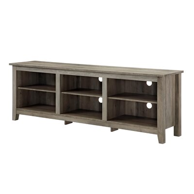 Beachcrest Home Sunbury TV Stand for TVs up to 70 with optional Fireplace Fireplace Included: No, Color: Gray Wash