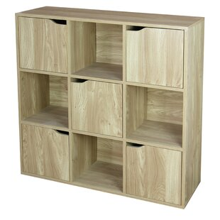 Wood Storage 9 Cube Bookcase by Home Basics