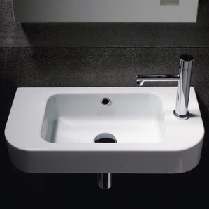 Wall Mounted Sinks For Small Bathrooms wall mounted sinks you'll love | wayfair