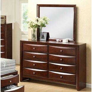 Derik 8 Drawer Double Dresser with Mirror by Red Barrel Studio