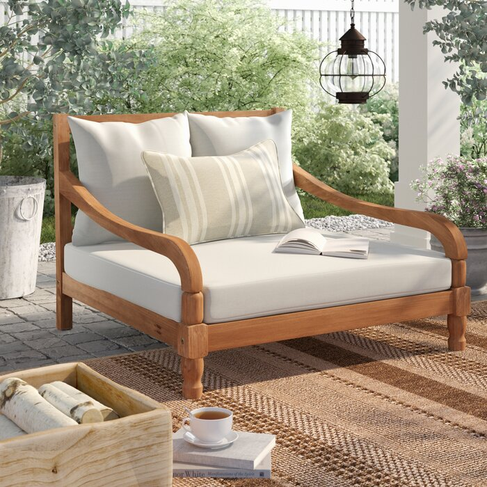 Wiest Double Chaise Lounge With Cushion