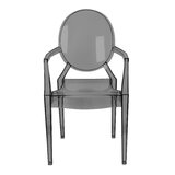 Talton Plastic Stacking Arm Chair in Grey (Set of 4) by Everly Quinn