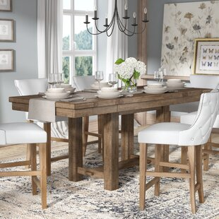 Farmhouse dining tables birch lane hillary rectangular counter height extendable dining table workwithnaturefo