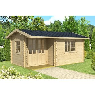 Riegel 15.5 X 9 Ft. Tongue & Groove Log Cabin By Sol 72 Outdoor