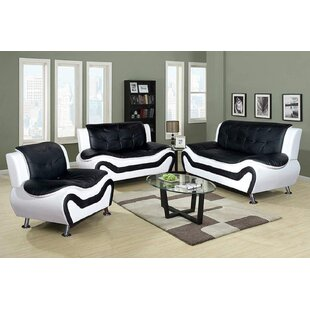 Brookstonval 3 Piece Standard Living Room Set by Orren Ellis