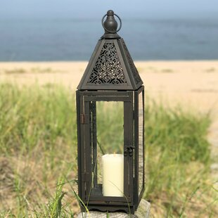 Buy clear Faded Metal Lantern By Fleur De Lis Living