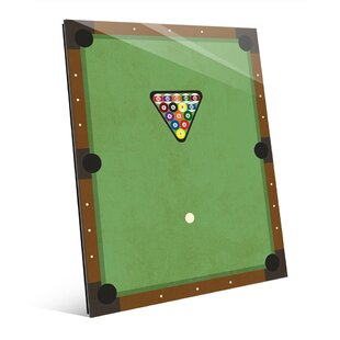 Billiards Graphic Art On Plaque