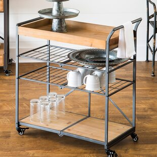 Dovenby Wooden Folding Bar Cart