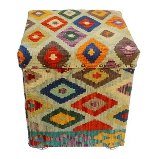 Ranieri Kilim Storage Ottoman by World Menagerie