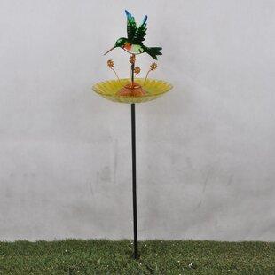 Outdoor Hummingbird Fusion Glass Decorative Bird Feeder Image