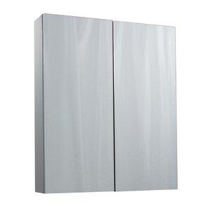 Great Deals Wortham 60cm X 71.5cm Surface Mount Mirror Cabinet