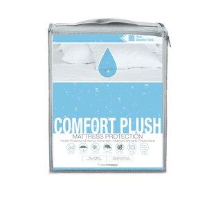 Comfort Plush Hypoallergenic Waterproof Mattress Protector by Glideaway
