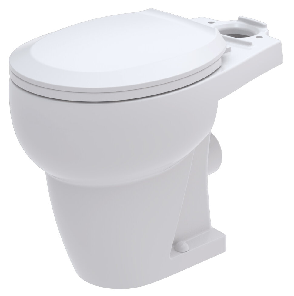 Bathroom Anywhere WaterSense Rear Outlet 1.28 GPF Round ...