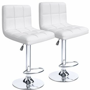 Ferry Adjustable Height Swivel Bar Stool (Set of 2)