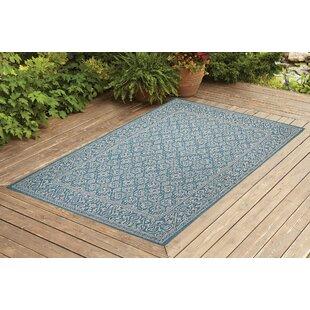 Satterlee Turquoise Indoor/Outdoor Area Rug