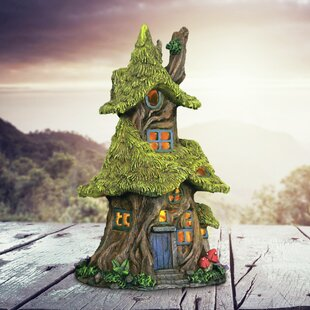 Dimatteo Solar Thatch Roof Tree House Fairy Garden by August Grove
