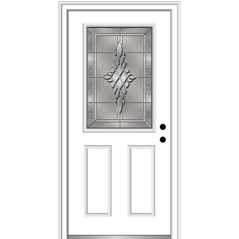 Verona Home Design Grace Fiberglass Prehung Front Entry Door Wayfair