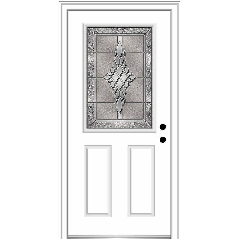 Verona Home Design Grace Steel Prehung Front Entry Door Wayfair