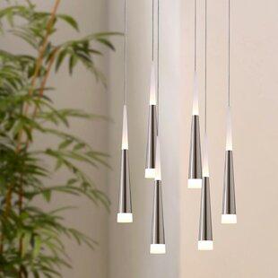 Orren Ellis Wadley 6-Light LED Cluster Pendant