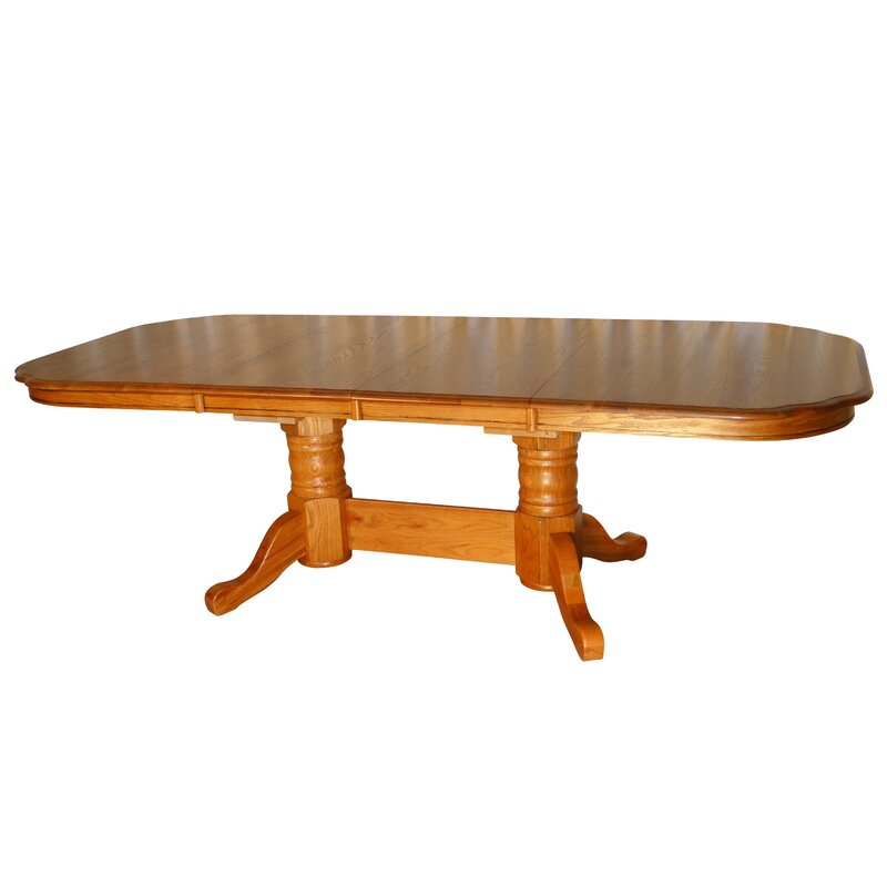 Red Barrel Studio Tyrell Solid Oak Solid Wood Dining Table Wayfair