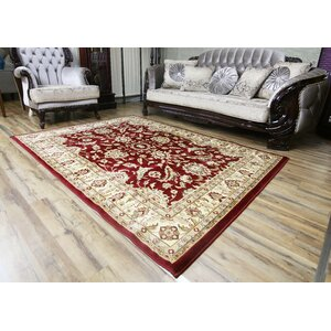 Passion Red/Beige Area Rug