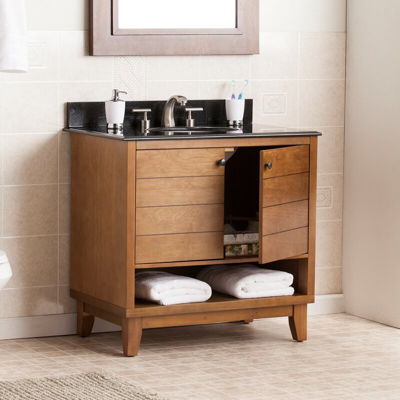 Default nameWildon Home   Reading 34  Single Bath Vanity Sink with Granite Top  . 34 Bathroom Vanity. Home Design Ideas