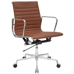 Mid-Back Genuine Leather Office Chair