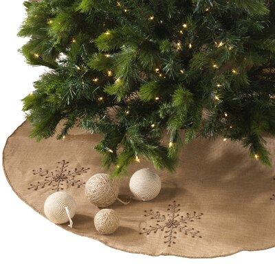 The Holiday Aisle Beaded Snowflake Tree Skirt