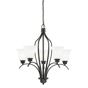 Ebern Designs Nicholas 5-Light Shaded Chandelier