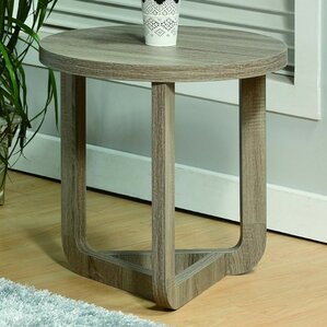 Malsbury Modern Round End Table by Ebern Des..