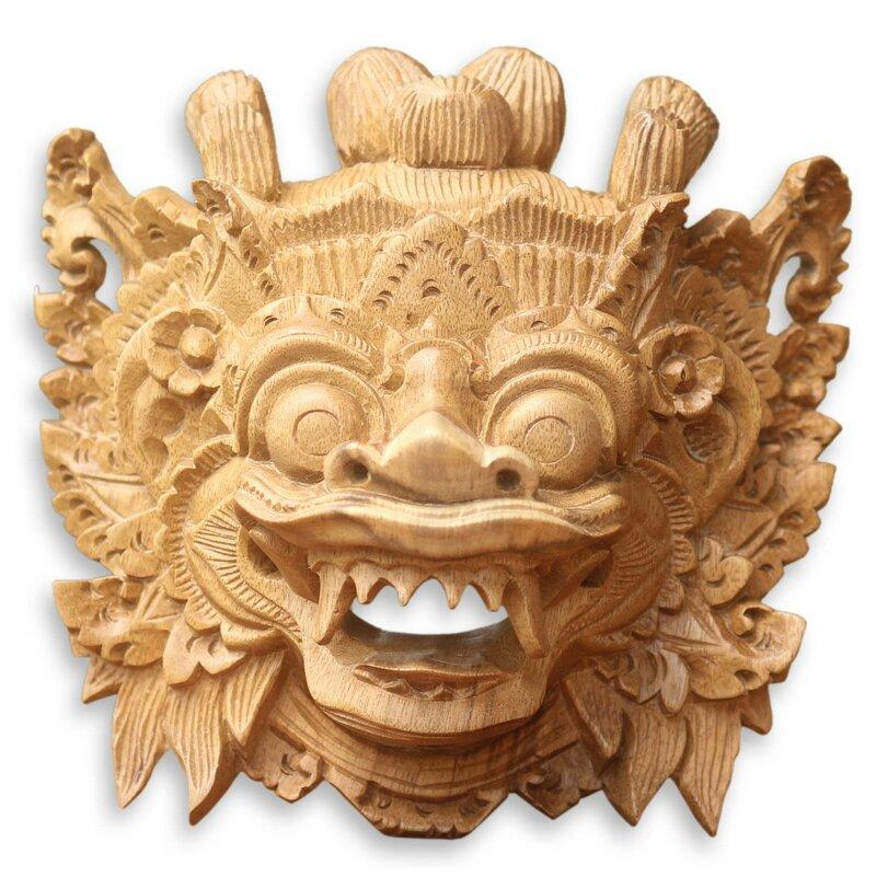 Bloomsbury Market Magical Barong Wood Mask Wall Décor & Reviews ...