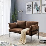 Angeles 59 Flared Arm Loveseat by George Oliver