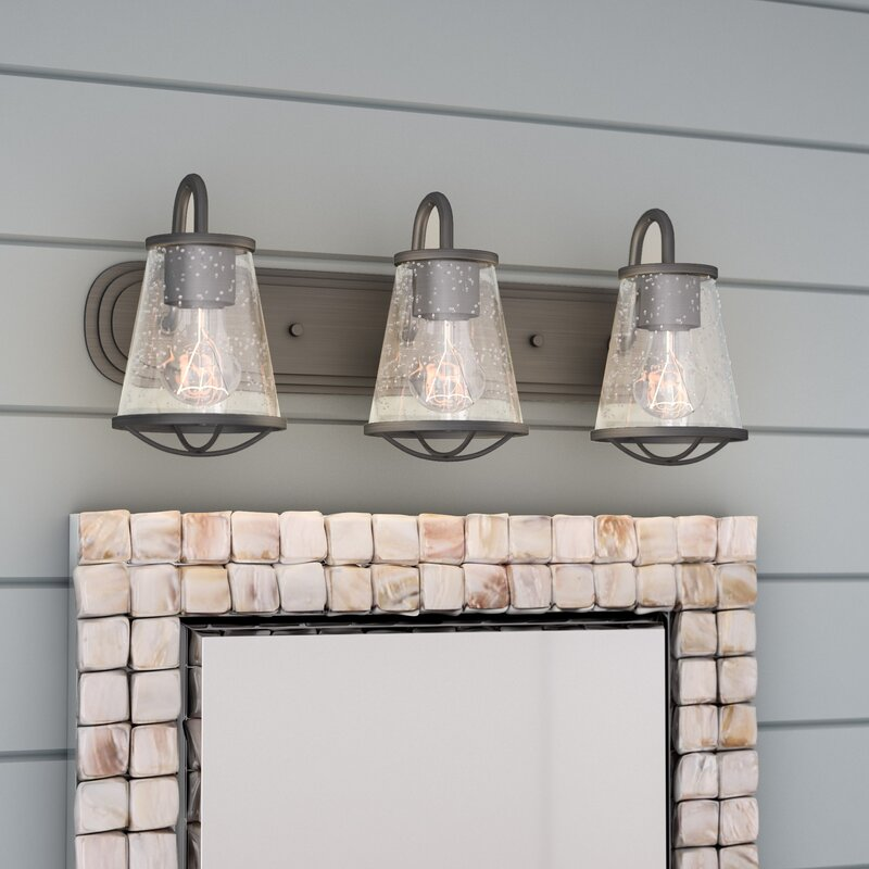 Beachcrest Home Regan 3 Light Dimmable Vanity Light Reviews Wayfair