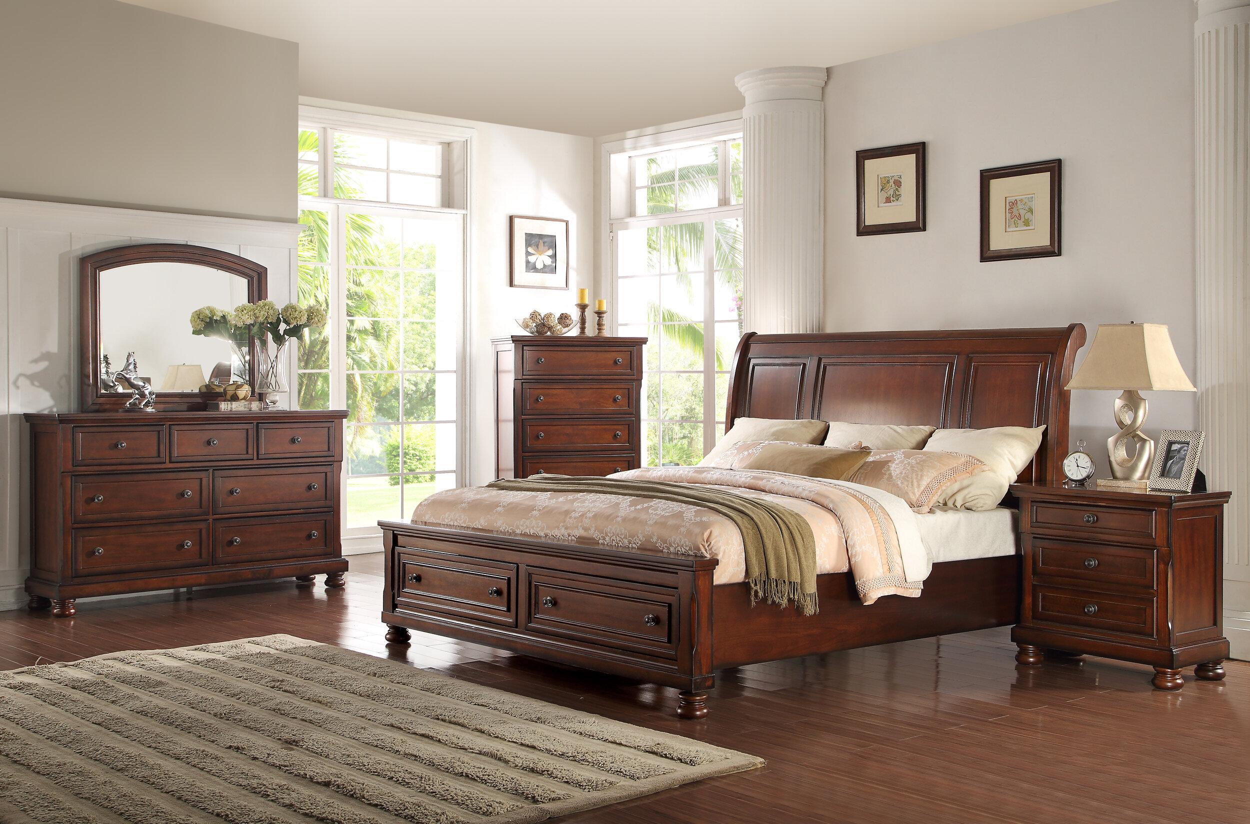 Darby Home Co Vitela Queen Standard Solid Wood 4 Piece Bedroom Set Reviews Wayfair
